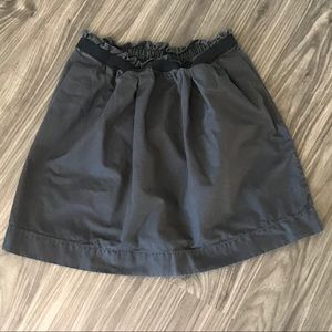 J. Crew Mini Skirt Black/Gray size 4